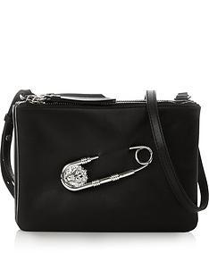 versus-versace-safety-pin-cross-body-clutch-bag-black