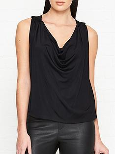 versus-versace-cowl-neck-blouse-black