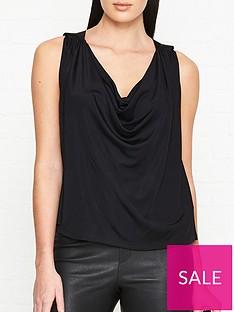 versus-versace-cowl-neck-blouse-black