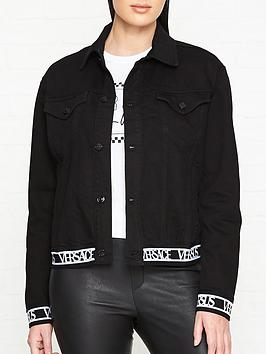 versus-versace-logo-trim-denim-jacket--black