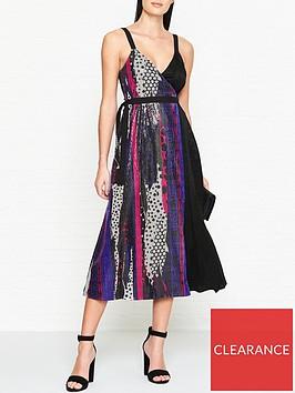 versus-versace-woven-sequin-pattern-dress-multi