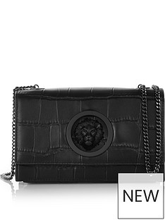 versus-versace-lions-head-croc-effect-cross-body-bag-black