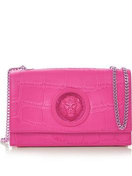 versus-versace-lions-head-croc-effect-cross-body-bag-pink