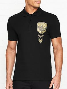 versace-collection-glitter-military-badge-logo-polo-shirt-black