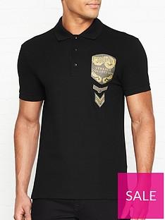 versace-collection-glitter-military-badge-logo-polo-shirt-black
