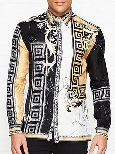 versace-collection-silk-marble-print-shirt--nbspblackgold
