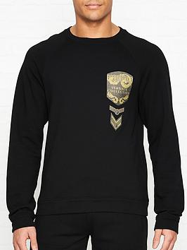 versace-collection-glitter-military-badge-logo-sweatshirt-black