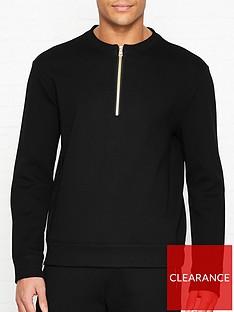 versace-collection-logo-detail-half-zip-sweatshirtnbsp--black