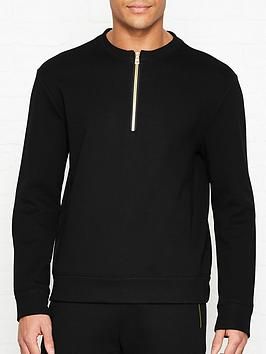 versace-collection-logo-detail-half-zip-sweatshirtnbsp--black