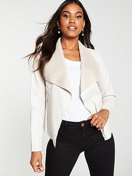 v-by-very-waterfall-pu-jacket-cream
