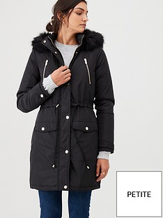 v-by-very-petite-ultimate-parka-black