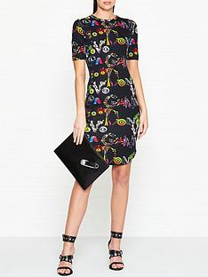 versus-versace-30th-anniversary-giannia-vanitas-print-dress-black