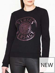 versus-versace-lion-logo-print-sweatshirt-blackpink