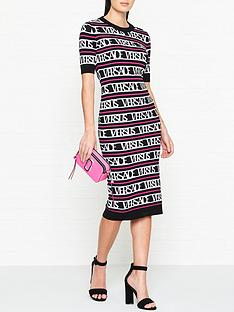 versus-versace-all-over-logo-print-knitwear-dress-blackwhite