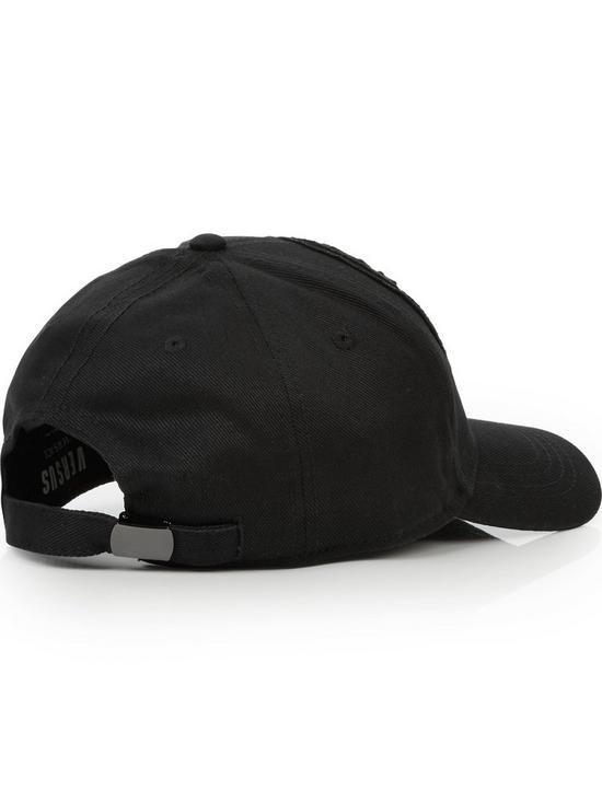 ce60080a062 VERSUS VERSACE Logo Baseball Cap - Black
