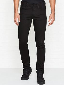 versus-versace-logonbspprint-slim-fit-jeans-black