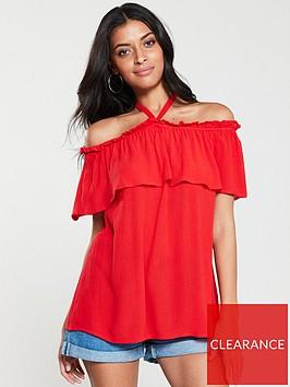 v-by-very-strappy-bardot-top-red