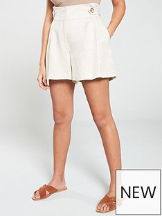 v-by-very-linen-mix-short-natural