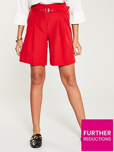 v-by-very-belted-shorts-red