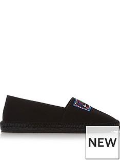 versus-versace-logo-patch-espadrilles-black