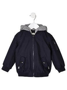 river-island-mini-mini-boys-navy-hooded-bomber-jacket