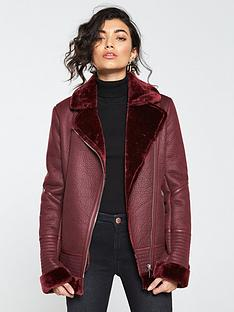 v-by-very-faux-shearling-aviator-jacket-burgundy