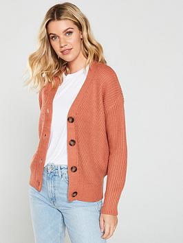 v-by-very-vertical-rib-button-cardigan-dusky-rose