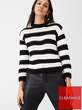 v-by-very-stitch-detail-monochrome-jumper-stripe