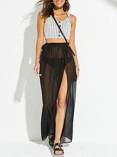 v-by-very-chiffon-tie-side-beach-maxi-skirt-black