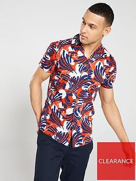 selected-homme-tokyo-slim-printed-short-sleeve-shirt-orangeblue