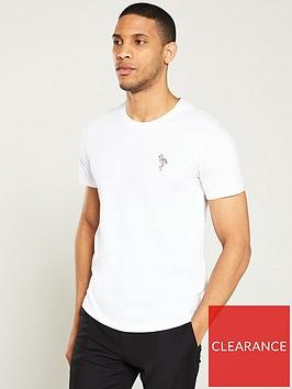 selected-homme-miaminbspflamingo-t-shirt-white