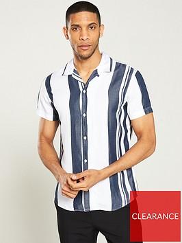 selected-homme-kevin-short-sleeve-shirt-whitenavy