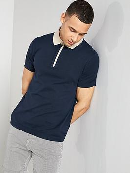 selected-homme-contrast-short-sleeve-polo-shirt-navy