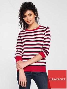 oasis-textured-stripe-knitted-jumper