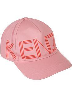 kenzo-girls-logo-cap-pink