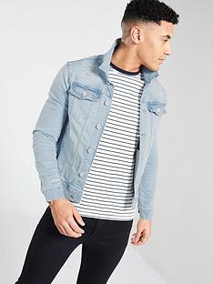 river-island-muscle-fit-rip-repair-denim-jacket