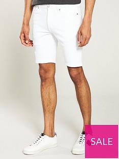 river-island-white-skinny-ripped-denim-shorts