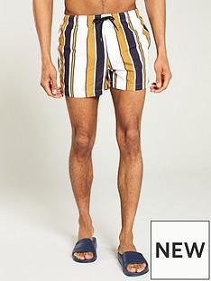 river-island-joey-gold-stripe-swim-shorts