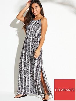v-by-very-maxi-beach-dress-with-side-splits-snake-print