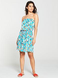 v-by-very-bandeau-jersey-beach-dress-aqua-print