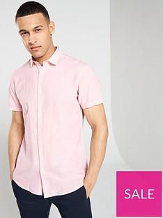 af0dfb8fd5 Selected Homme Regular Linen Classic Short Sleeve Shirt - Pink
