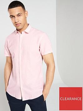 selected-homme-regular-linen-classic-short-sleeve-shirt-pink