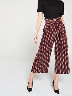 miss-selfridge-polka-dot-paperbag-trousers-red