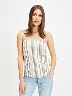 731e0cf1a3e6f Miss Selfridge Stripe Button Cami - Ivory