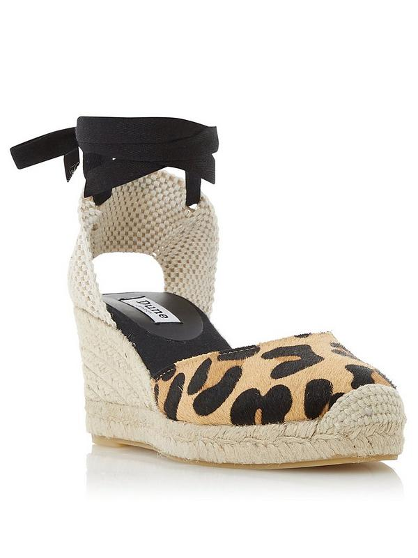 unequal in performance outlet online quality and quantity assured Kasey Ankle Strap Espadrille Wedge - Black