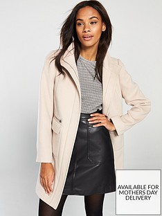 wallis-twill-zip-through-funnel-coat-stone