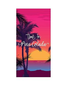 deyongs-time-for-pina-colada-beach-towel