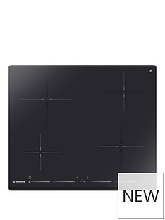 hoover-his4bc-60cmnbspinduction-hob-with-optional-installation-black-glass