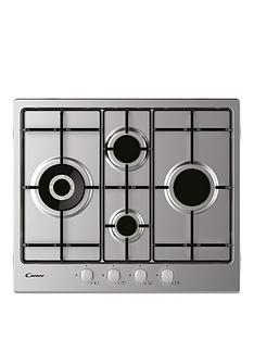 candy-chw6d4wx-60cmnbspwide-gas-hob-with-optional-installation-stainless-steel