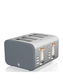 Swan 4 Slice Nordic Style Toaster - Grey